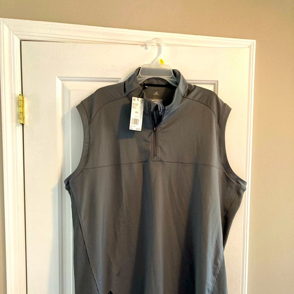 NWT 2XL Adidas Golf Vest Grey
